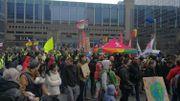 Marche pour le climat à Bruxelles au départ de la gare du Nord.