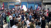 Manifestation demandant des réformes le 1er avril 2011 à Qamishli.