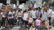 Manifestation à Los Angeles contre une intervention en Syrie, le 30 août