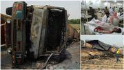 Un camion-citerne prend feu et explose au Pakistan, au moins 123 morts