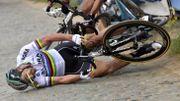 """Sagan, preuve à l'appui : """"Je suis tombé à cause de la veste"""""""