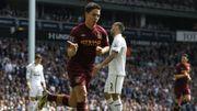 Le but de Nasri permet à Manchester City de virer en tête à la pause