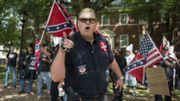 Un membre du Ku Klux Kla lors de la manifestation d'extrême droite de Charlottesville