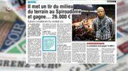 Il met un tir du milieu du terrain au Spiroudôme et gagne 26.000 euros!