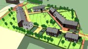 Le nouveau quartier comprend 33 logements (appartements et maisons), dont 23 seront des logements publics.