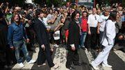 Des milliers de fans sur Abbey Road pour les 50 ans de l'album