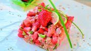 Recette: Tartare de saumon aux fraises
