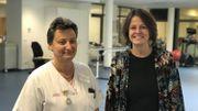 A droite, Laurence Fetu, directrice générale de l'ASBL SILVA medical. A gauche, Sophie Chailly, responsable des kinés.