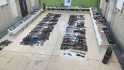 Saisie d'armes à feu présentée à Bruges, ce 08 octobre