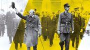 Portraits croisés de Churchill et de Gaulle au Musée de l'Armée, à Paris