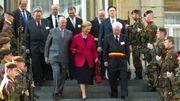 Le bourgmestre libéral lors d'une visite royale à Spa en 2004.