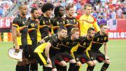 Les 11 Diables au coup d'envoi d'USA-Belgique