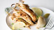 Recette : aiguillettes de poulet marinées au yaourt miellé
