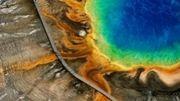 Source chaude du grand Prismatic, Parc national de Yellowstone, Wyoming, Etats-Unis