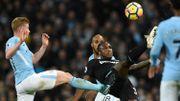 Un Manchester City poussif écarte West Ham, 8e assist pour De Bruyne