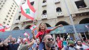 Liban: la contestation prend de l'ampleur, une foule de manifestants dans la rue