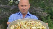 """Recette """"Fait Maison! Barbecue"""": Salade de pâtes au Halloumi grillé et aux asperges"""