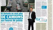 La revue de presse : Di Antonio ne veut plus de camions aux heures de pointe
