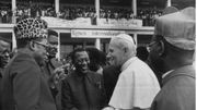 Le pape Jean-Paul II et Mobutu