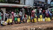 Distribution d'eau potable à Kibera