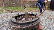 Seule, la base du carrousel - et bien entendu la bâche de protection- ne seront pas en bois.