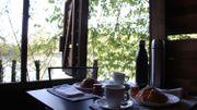 Un petit-déjeuner paisible dans un endroit magique