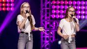 """Léa et Noa, les sœurs jumelles de The Voice Kids, séduisent Slimane avec """"Les choses simples"""""""