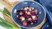 Salade tiède de pommes de terre et chou rouge
