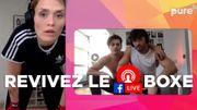 Bénédicte Deprez a défié Malik et Manzul à la boxe - revoyez le Facebook Live