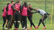 Romelu Lukaku toujours absent, 25 Diables souriants à l'entraînement