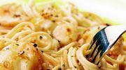Spaghettis ail, citron à la chapelure