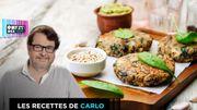 Burger de quinoa aux épinards et feta