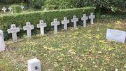 Une partie des croix plantées au Bastion des fusillés