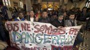 Le groupe de marcheurs afghans est arrivé à Gand, après avoir quitté Bruxelles à pied samedi dernier
