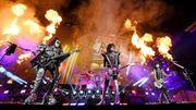 Kiss donne un mini-concert à New York: les images