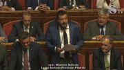 Un discours houleux de Salvini au Sénat