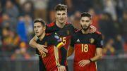 Eden Hazard, Thomas Meunier et Yannick Carrasco