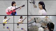 """[Zapping 21] Cette petite fille de 6 ans reprend """"Hotel California"""" en rejouant tous les instruments"""