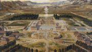 Pierre Patel - Le Château de Versailles en 1668; huile sur toile, château de Versailles