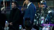 Une protection rapprochée de type paramilitaire, pour l'exprésident Saakashvili (extrait d'un reportage de la chaîne 1tv)