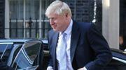 Boris Johnson devant le 10, Downing Street, juste après avoir été nommé Premier ministre.