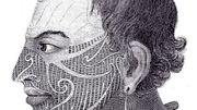Illustration d'un tatouage ramené d'un voyage de James Cook.