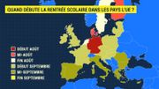 Vacances d'été, rentrée scolaire: quelles différences chez les élèves européens?