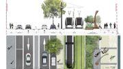La répartition de l'espace sur les futurs quais réaménagés