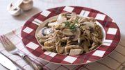 Recette: One pot pasta épeautre poulet champignons
