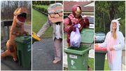 Des Australiens sortent leurs poubelles... en étant déguisés