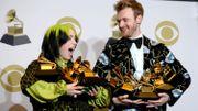 Billie Eilish, grande gagnante des Grammy Awards avec son frère Finneas