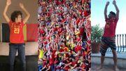 Les Diables rouges, les Red Flames et leurs supporters lancent une ola virtuelle pour le personnel soignant