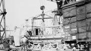transport du canot de Napoléon en 1943