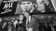 """A la première de """"Max et les ferrailleurs"""" de Claude Sautet, avec Romy Schneider, en 1971"""